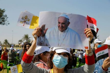 Pope Francis calls from Baghdad to promote peace in the region and to tackle corruption and abuse of power