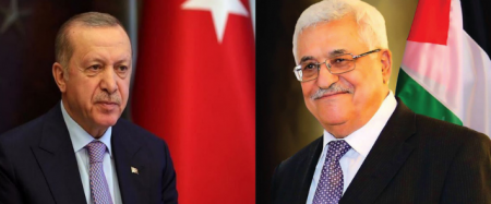 President Abbas briefs his Turkish partner on most recent political turns of events