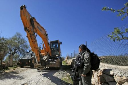 Israeli bulldozers demolish nursery in the south of the West Bank