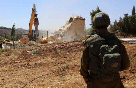 House demolished, land razed in the south of the West Bank
