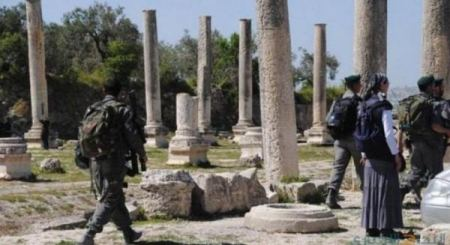 Israeli forces, settlers storm archeological site near Nablus
